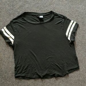 Divided Sports Ball Sleeve Top